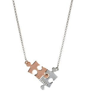 Image 1 ofTed Baker Jigsaw Pendant Necklace