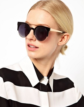 Image 3 ofAJ Morgan Tipped Round Sunglasses