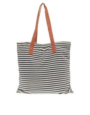 ASOS Stripe Cottle Canvas Shopper