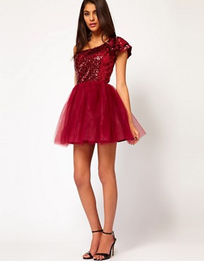 Image 4 ofASOS Prom Dress with Sequin One Shoulder