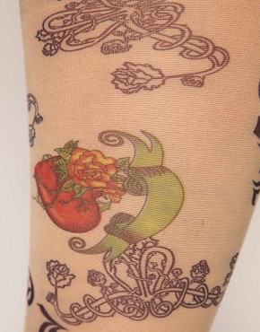 Image 2 ofASOS Love Tattoo Tights