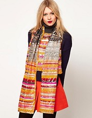 Lauren McCalmont For ASOS Text Print Top With Scarf