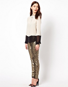 Image 1 ofAryn K Sequin Drawstring Pant