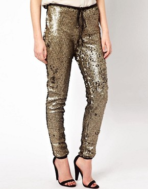 Image 4 ofAryn K Sequin Drawstring Pant