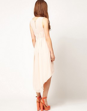 Image 2 ofWarehouse Embellished Yoke Dress
