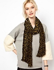 Whistles Crinkle Cheetah Print Scarf