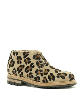 Image 1 ofMark McNairy Leopard Print Desert Boots
