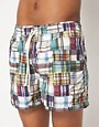 Image 1 ofHartford Patchwork Swim Shorts