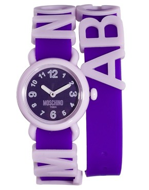 Image 1 ofMoschino Cheap &amp; Chic Fashion Alphabet Watch
