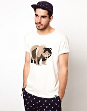Penfield - T-shirt con stampa di orso stile cubista