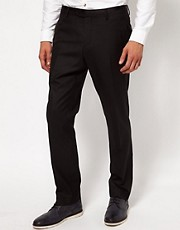 River Island Natte Tux Trousers