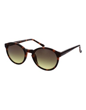 Image 1 ofASOS Brown Keyhole Round Lens Sunglasses
