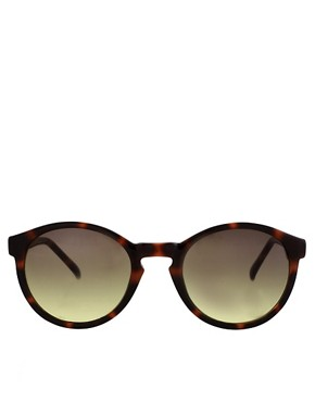 Image 2 ofASOS Brown Keyhole Round Lens Sunglasses