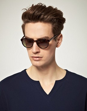 Image 3 ofASOS Brown Keyhole Round Lens Sunglasses