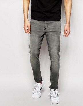ASOS Super Skinny Jeans In Light Grey Wash