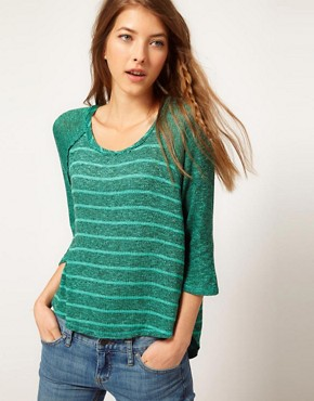 Image 1 ofFree People Raglan Sleeve Striped Top