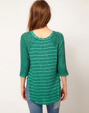 Image 2 ofFree People Raglan Sleeve Striped Top