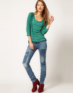 Image 4 ofFree People Raglan Sleeve Striped Top