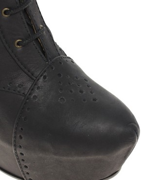 Image 2 of Minimarket Estrid Leather Wedge Lace-Up Boot