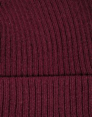 ASOS Tiny Beanie In Burgundy