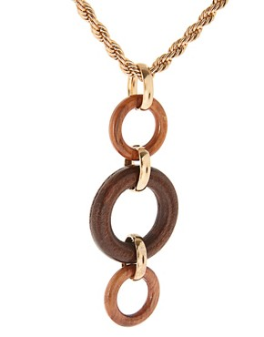 Image 4 ofGogo Philip Wooden Detail Necklace