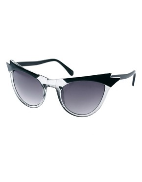 Image 1 ofASOS Cat Eye Sunglasses With Wing Detail