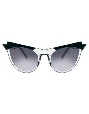 Image 2 ofASOS Cat Eye Sunglasses With Wing Detail