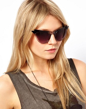 Image 3 ofASOS Cat Eye Sunglasses With Wing Detail