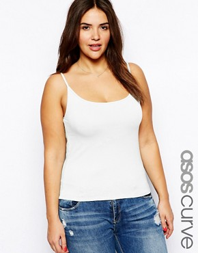 Image 1 ofASOS CURVE Vest In Soft Stretch Jersey