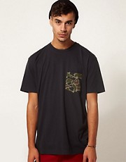 Addict T-Shirt Frogskin Camo Pocket
