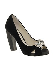 Faith Fortune Velvet Curved Heel Shoes