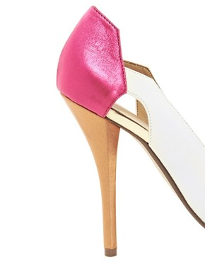 Image 4 ofASOS PROUD Pointed Platforms with Colour Block