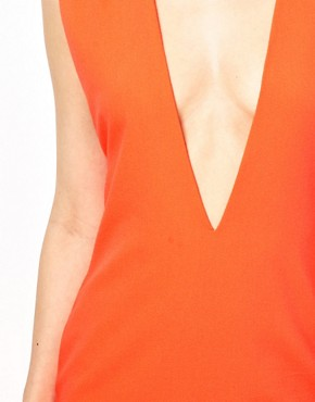 Image 3 ofAqua Joker Shift Dress with Deep V Neck