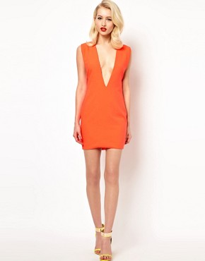 Image 4 ofAqua Joker Shift Dress with Deep V Neck