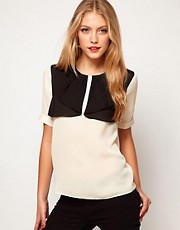 ASOS Blouse With Contrast Front Detail