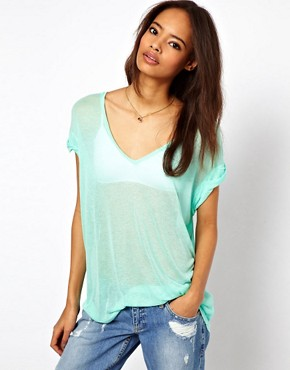Image 1 ofASOS T-Shirt in Sheer Slouch