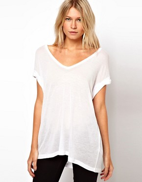 Image 1 of ASOS T-Shirt in Sheer Slouch
