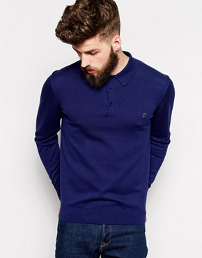 Peter Werth Long Sleeve Knitted Polo