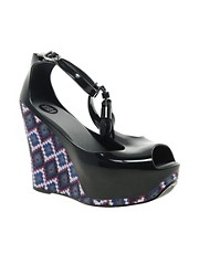 Melissa Peace Print Wedges
