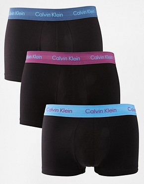 Calvin Klein 3 Pack Trunks Low Rise Cotton Stretch