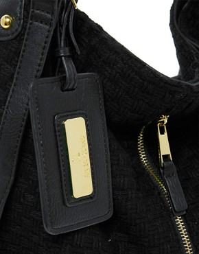 Image 2 ofRiver Island Zip Front Textured Slouch Bag