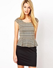 Oasis Dogtooth 2 In1 Dress