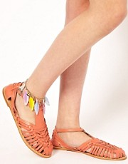 River Island Feather Anklet
