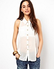 Free People Point Collar Tank Top