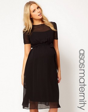 Image 1 ofASOS Maternity Midi Dress