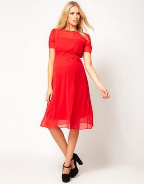 Image 4 ofASOS Maternity Midi Dress