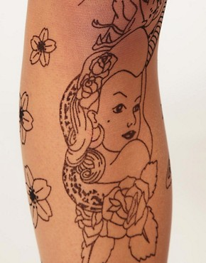 Image 2 ofASOS Tattoo Tights