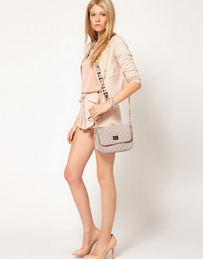 Image 3 of ASOS Nude Quilted Across Body Bag