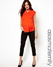 ASOS Maternity Exclusive Capri Pant In Twill