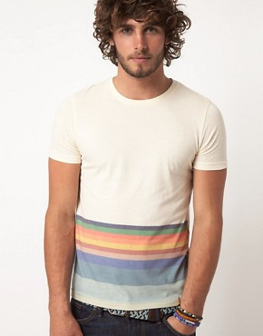 Image 1 ofASOS T-Shirt With Hem Stripe